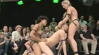 Hot Free For All Ends Up In A Great Lesbian Threesome