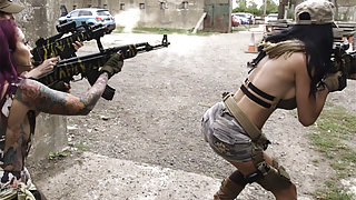 Call of Duty xxx parody with sexy big titted soldiers