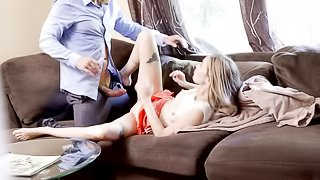 Step daddy fucks sweet young daughter