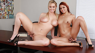 Abbey Brooks & Ky Noelle & Rocco Reed in Naughty Office