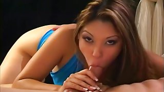 Stunning Asian Nautica Thorn Sucks A Pink Cock POV Style