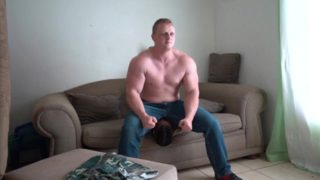Thick Muscle Stud Facesitting Twink in Tight Jean