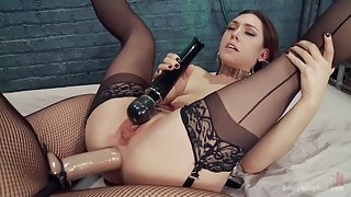 Kimberly Kane gives a diabolically seductive Anal Fisting to Lily LaBeau