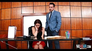 Redhead Fucked In The Office Monique Alexander