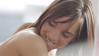A redhead is tasting a big cock inside her pubic mound here