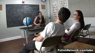 Serving Detention with a Footjob