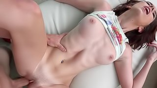 Busty beauty loves to fuck hard and deep in her twat