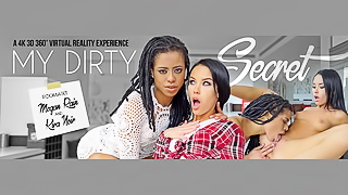 My Dirty Secret - Megan & Kira VR Interracial Lesbian Sex